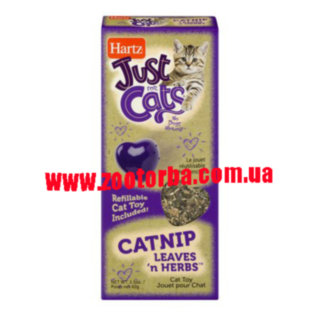 HARTZ , Just For Cats Catnip Leaves 'N Herbs , Кошачья мята для кошек .
