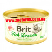 Brit Fish Dreams Tuna & Squid , Консервы для кошек , тунец , кальмары .