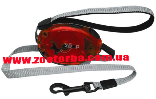 Flamingo , Dogx2GO Belt Glassy L , ФЛАМИНГО БЕЛТ ГЛАССИ поводок рулетка для собак до 35кг , светоотражающая лента , 2м .
