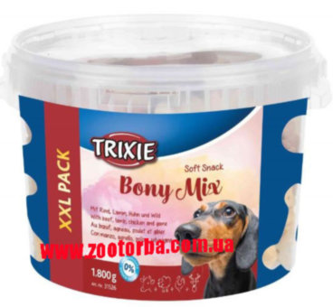 TRIXIE , Soft Snack Bony Mix XXL , лакомство для собак , Косточки Микс .