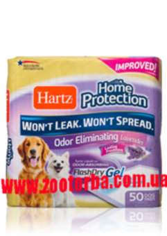Hartz , Home Protection Odor Eliminating Dog Pads , Пеленки для собак , Лаванда.